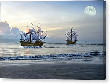 On The Sea Canvas Print