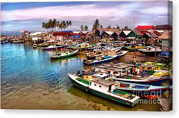 On The Shore Canvas Print by Charuhas Images