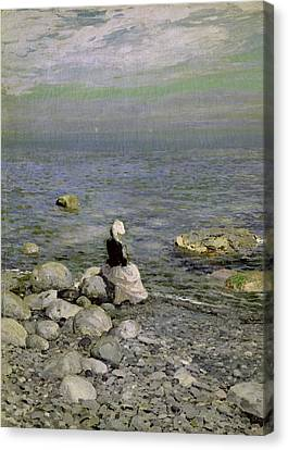 On The Shore Of The Black Sea Canvas Print by Konstantin Alekseevich Korovin