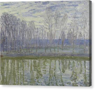 On The Shores Of The Loing, 1896 Canvas Print by Alfred Sisley