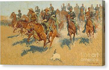 On The Southern Plains, 1907 Canvas Print