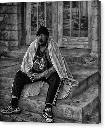 On The Steps Of Gods' House Canvas Print by Kelly Rader