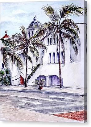 On The Streets Of Santa Barbara Canvas Print by Danuta Bennett