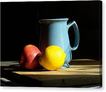 On The Table 1- Photograph Canvas Print by Jackie Mueller-Jones