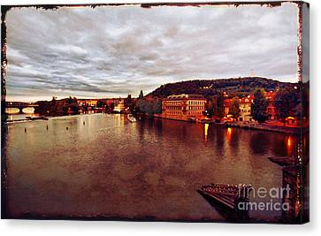 On The Vltava River Canvas Print by Madeline Ellis