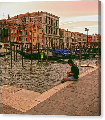 Canvas Print featuring the photograph On The Waterfront by Anne Kotan