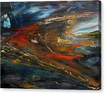 Canvas Print featuring the digital art On The Way by John Hansen