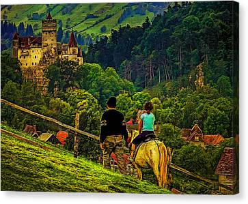 On The Way To Bran Castle Canvas Print