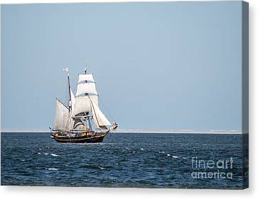 on the way to Texel Canvas Print by Hannes Cmarits