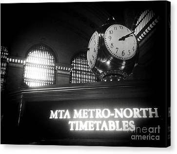 On Time At Grand Central Station Canvas Print by James Aiken