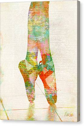 On Tippie Toes Canvas Print by Nikki Smith