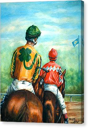 On To The Track Canvas Print by Thomas Allen Pauly