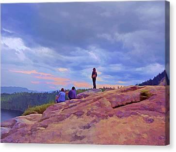 Canvas Print - On Top Of The World 5 by Lynda Lehmann