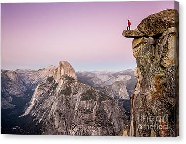 Overhang Canvas Print - On Top Of The World by JR Photography