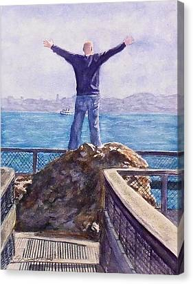Outstretched Arm Canvas Print - On Top Of The World by Sheri Jones