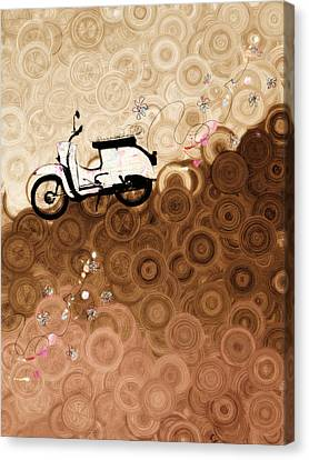 On Top Of The World Whimsy Canvas Print by Georgiana Romanovna