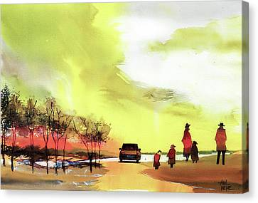 On Vacation Canvas Print by Anil Nene