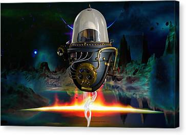 Outer Space Canvas Print - On Vacation by Marvin Blaine