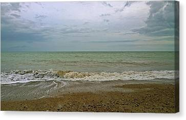 Canvas Print featuring the photograph On Weymouth Beach by Anne Kotan