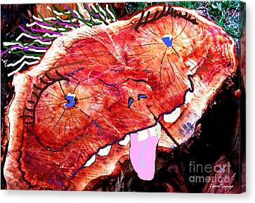 Once A Tree Canvas Print by Leanne Seymour