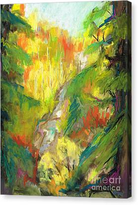 Canvas Print featuring the painting Once A Waterfalls by Frances Marino