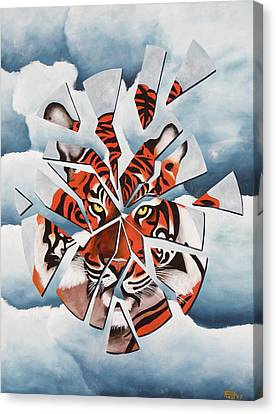 Once I Was A Tiger Canvas Print by Poul Costinsky