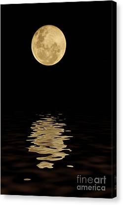 Once In A Blue Moon Canvas Print by Darren Fisher