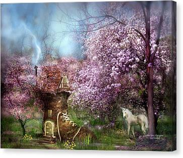Extinct And Mythical Canvas Print - Once Upon A Springtime by Carol Cavalaris