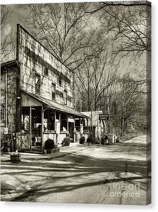 Once Upon A Story # 2 Sepia Tone Canvas Print