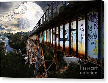 Canvas Print featuring the photograph Once Upon A Time In Any Town Usa by Wingsdomain Art and Photography