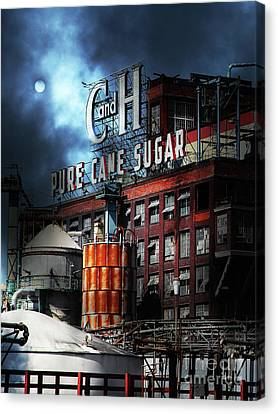 Canvas Print featuring the photograph Once Upon A Time In The Sleepy Town Of Crockett California - 5d16760 - Vertical Cut by Wingsdomain Art and Photography