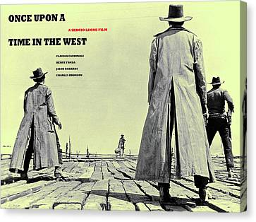 Once Upon A Time In The West, A Sergio Leone Film Canvas Print by Thomas Pollart