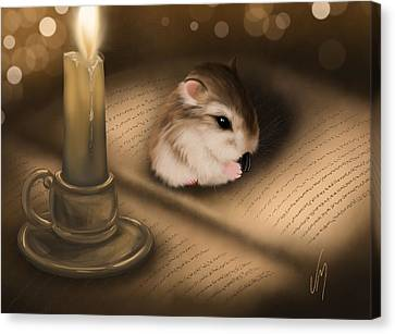Candle Lit Canvas Print - Once Upon A Time... by Veronica Minozzi