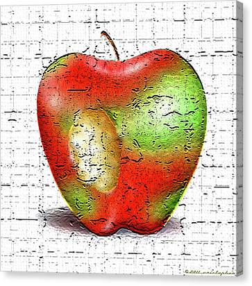 One Bad Apple Canvas Print by Cristophers Dream Artistry