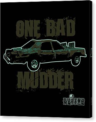 One Bad Mudder Canvas Print by George Randolph Miller