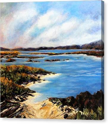 One Beach Washington Canvas Print by Marti Green