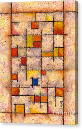 One Blue Window Inkling Canvas Print by David K Small
