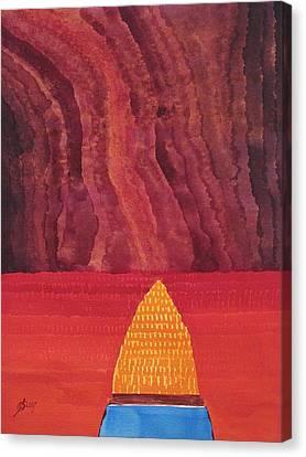One Brush Original Painting Canvas Print