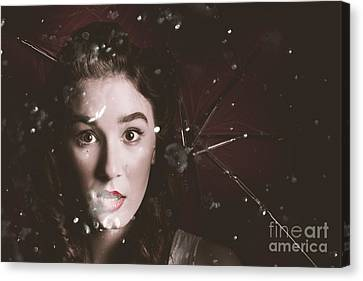 One Cold Winters Night In 1963 Canvas Print by Jorgo Photography - Wall Art Gallery