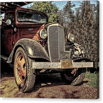 One Cool 1936 Chevy Truck Canvas Print