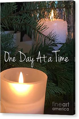 Attune Canvas Print - One Day At A Time by Jenny Revitz Soper