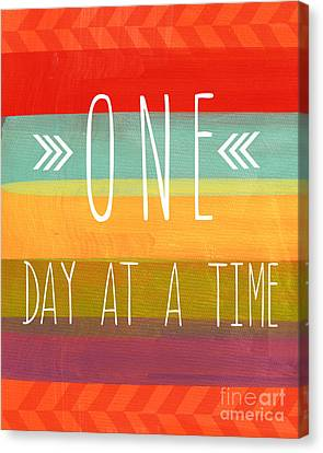 One Day At A Time Canvas Print by Linda Woods
