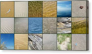 One Day At The Beach  Canvas Print by Michelle Calkins