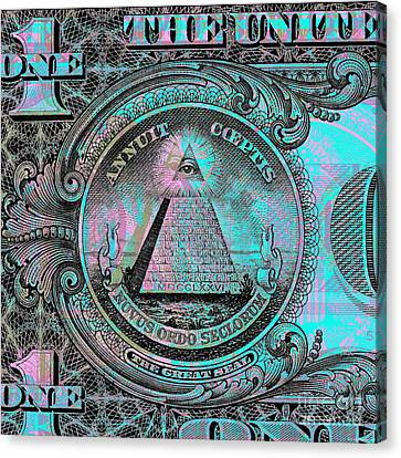 One-dollar-bill - $1 - Reverse Side Canvas Print