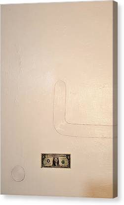 One Dollar Canvas Print by Radoslaw Zipper