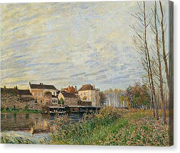 One Evening At Moret End Of October Canvas Print