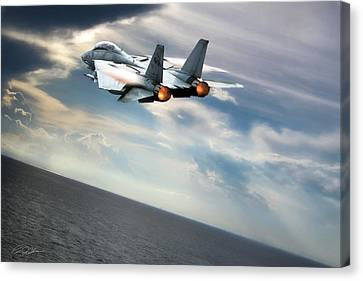 One Fast Cat Vf-31 Canvas Print by Peter Chilelli