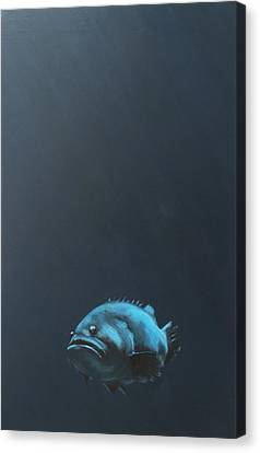One Fish Canvas Print by Jeffrey Bess