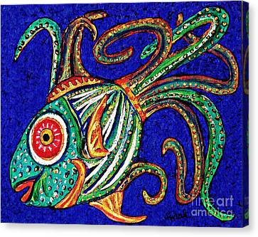 One Fish Canvas Print by Sarah Loft