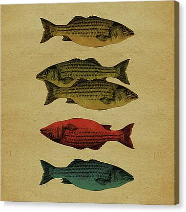 Stippling Canvas Print - One Fish, Two Fish . . . by Meg Shearer